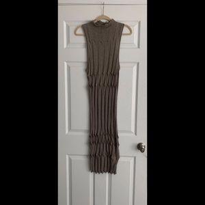 EUC Alexander Wang Knit Maxi Gray Dress sz Large